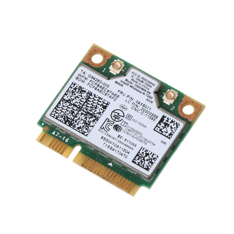 Tablet-Intel Wireless 7260HMW Bluetooth 4.0 BN WiFi NGFF Wlan Card 300M 04X6011 04W3815 For Lenovo Thinkpad