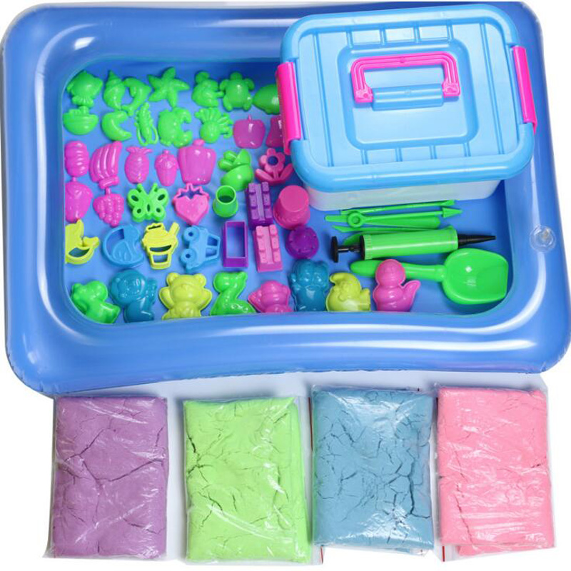 New DIY Kids Puzzle Clay Sand Set Education Modeling Clay Storage Box Children's Toys