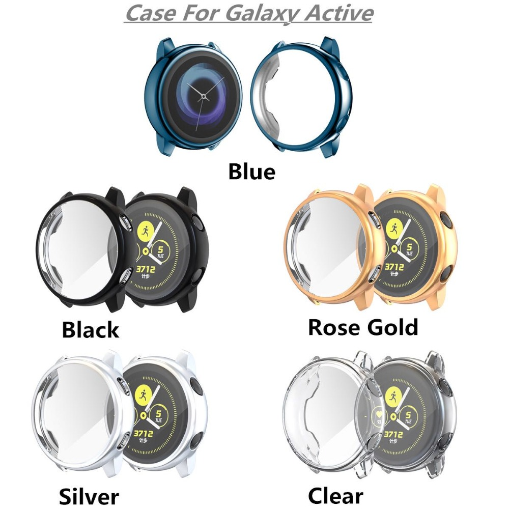 Image 2 - Protector case for samsung galaxy watch active Soft silicone Cover Ultra thin Screen Protection Frame for Galaxy Active 40mm-in Smart Accessories from Consumer Electronics