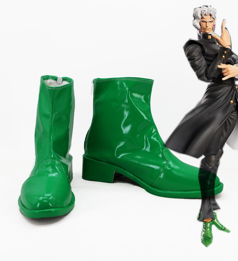 JoJo's Bizarre Adventure Phantom Blood Kakyoin Noriaki Cosplay Shoes Boots For Men Women