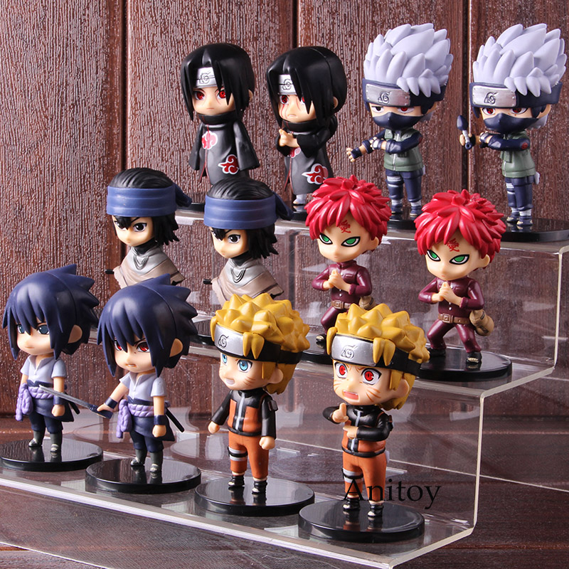 Anime Action Figure Naruto Uzumaki Gaara Itachi Uchiha Sasuke Hatake Kakashi Q Version PVC Collectible Model Toy Doll 6pcs/set 1