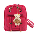 Student New Fashion Casual Girl PU Leather Strap Backpack Shoulders Bag worldwide sale