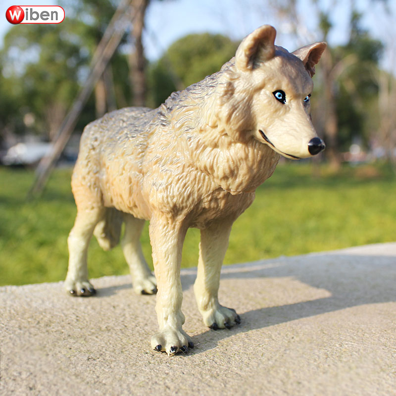 Wiben Figures Children Simulation Animal-Model Wolf for Gift Action--Toy Common Big High-Quality