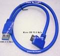 Правильный изгиб Micro USB V3.0 зарядки линии передачи данных кабель Micro B USB3.0 линии Note3 Mobile HDD Micro USB V3.0 данных зарядный кабель