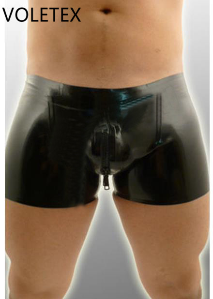 Novelty & Special Use Symbol Of The Brand Men s Latex Rubber Shorts Sexy Boxer Short Pants Lpm084