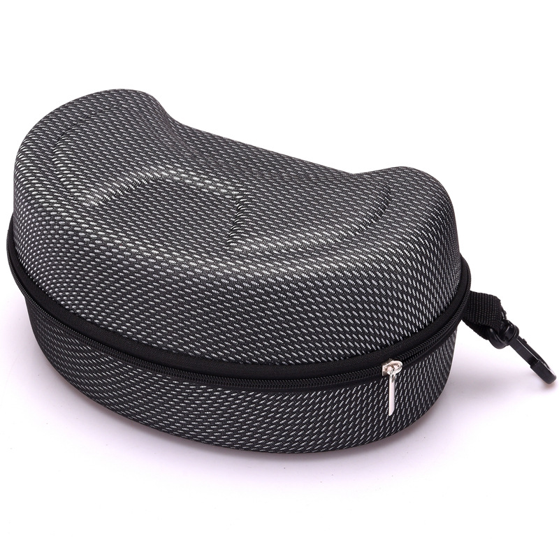 New EVA Snow Ski Eyewear Case Snowboard Skiing Goggles Sunglasses Carrying Case Zipper Hard Box Holder(Without Goggles)