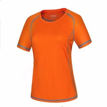 HW2016 NEW arrival  Women's Slim Outdoor Sports Running Quick-drying Short Sleeve Crew T-shirt