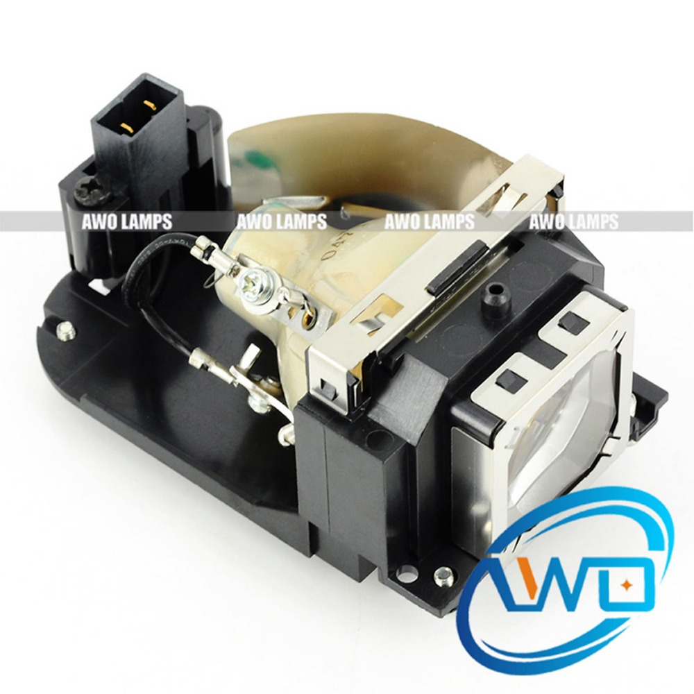 AWO POA-LMP129 100% Original Projector Lamp for SANYO PLC-XW65/XW65K/EIKI LC-XD25 with Housing poa lmp129 for eiki lc xd25 projector lamp with housing