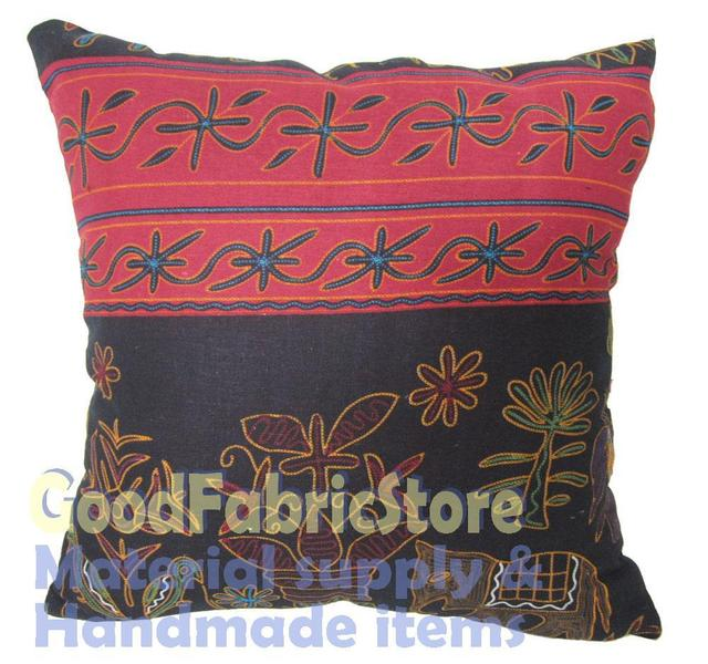 Surprising Ah 156A Red Chinese Ethnic Soft Cotton Style Cushion Cover Pillow Case Custom Made Size 16X16 X18 19X19 20X20 24X24 In Cushion Cover From Home Inzonedesignstudio Interior Chair Design Inzonedesignstudiocom