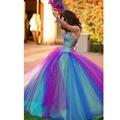 Das mulheres vestido de Baile Vestido Quinceanera 2016 vestidos de marmelo anos Barato Roxo/Azul Tulle Mangas Querida Quinceanera Vestidos