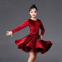 5a349b16dffef 2018 rumba samba niños samba cha tango la falda estándar salsa chicas  Spandex Latina vestidos de baile vestido de baile de salón
