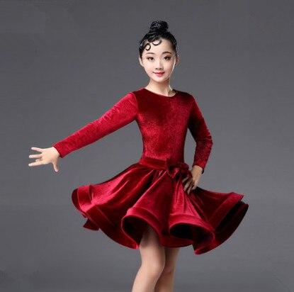 2018 rumba samba children samba cha cha tango skirt standard salsa girls Spandex latin dresses for dancing ballroom dance dress