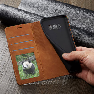 Image 4 - Virar Capa Carteira de Couro de Luxo Caixa Do Telefone Para Samsung Galaxy S8 Plus Suporte Magnético SM G950F G955F Galaxys8 S8plus S 8 8plus