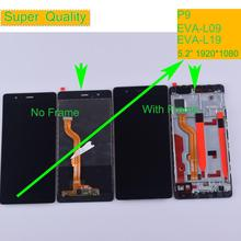 5.2 Original LCD For HUAWEI P9 Display Touch Screen Digitizer with Frame for EVA-L09 EVA-L19 EVA-AL00