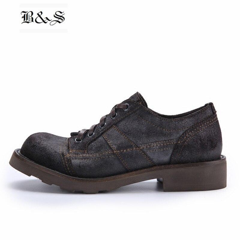Черные и уличные весенне летние матовые туфли с большим носком Мужские Кожаные полуботинки в стиле ретро с круглым носком и ремешком мужска...