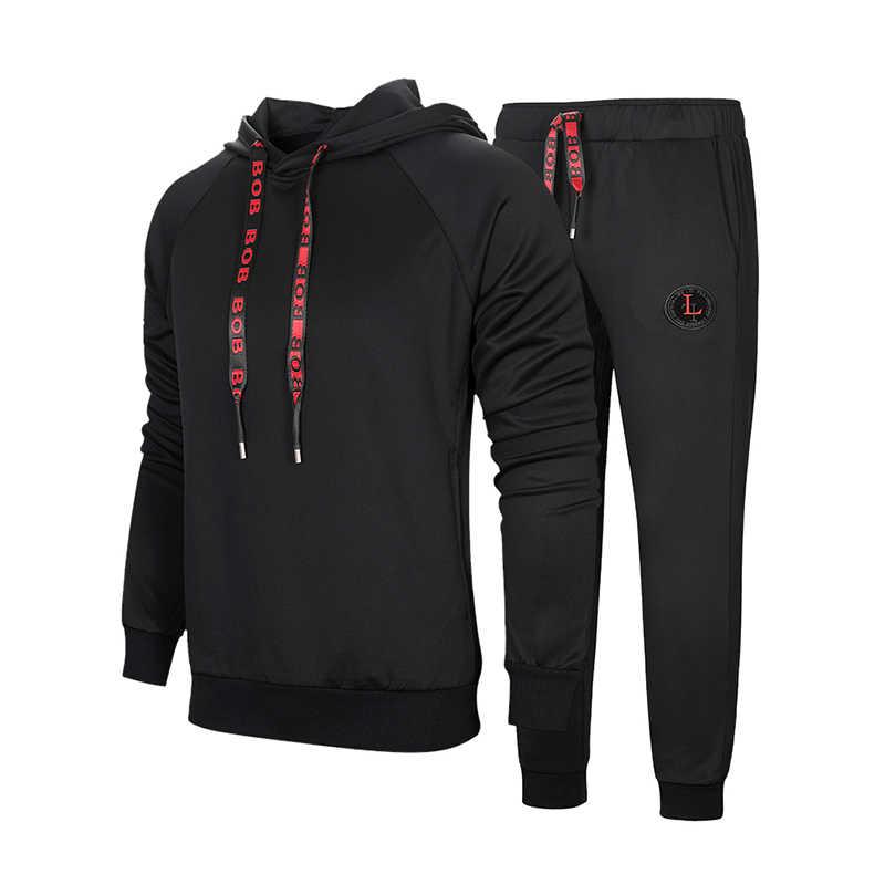 Новый зимний мужской комплект, повседневная куртка, 2 предмета, спортивные костюмы, утепленные флисовые толстовки + штаны, весенний комплект, мужской спортивный свитшот, костюм для бега