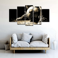 Soccer Wall Art Canvas Painting For Living Room Wall Decor Poster Art Print Picture Retro Wall