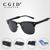 CGID Aluminum Magnesium Alloy Sunglasses With Black Frame And Polarized UV400 Lens For Men And Women