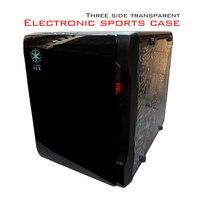 2017 Mini chassis HTPC chassis mini chassis mini pc case desktop pc case Support Discrete graphics MicroATX power supply