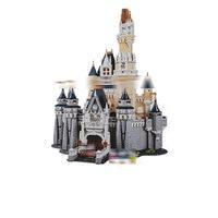 1149 Creators series the Cinderella Princess Castle Model Building Block compatible 71040 Architecture Toys for children 16008
