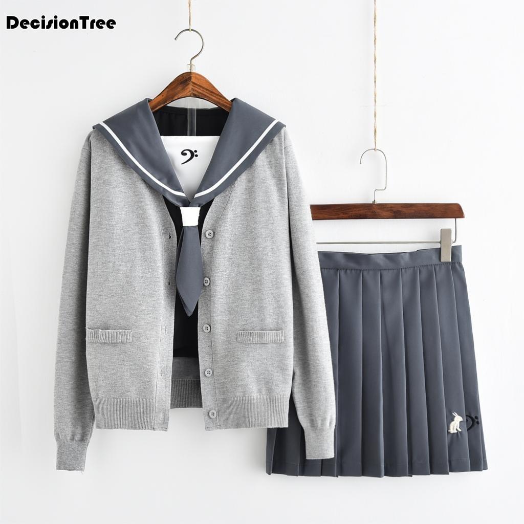 2019 été japonais école uniforme pour fille jk britannique coréen collège étudiants costumes fille chemise + veste + jupe vêtements