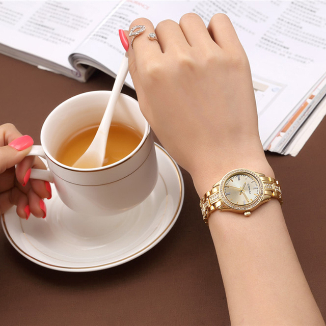 Brand Luxury Women Watches Ladies Casual Quartz Watch Female Clock Silver Stainless Steel Bracelet Dress Watch relogio feminino