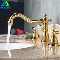 Luxury Rose Gold Color Swan Shape Bathroom Basin Sink Faucet Deck Mounted Heighten Countertop Basin Mixer Faucet