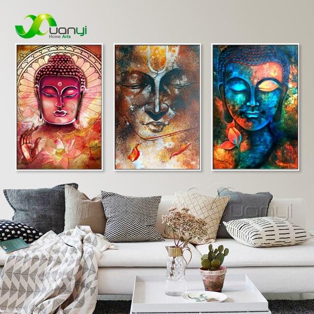 3 Pcs Large Buddha Canvas Wall Art Painting Buddha Picture Canvas ...