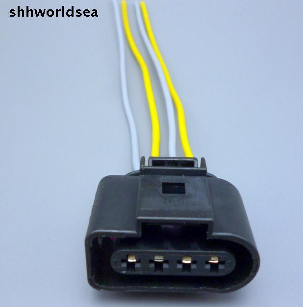 Shhworldsea 10pcs 4 Way Female 4B0973724 Ignition Coil