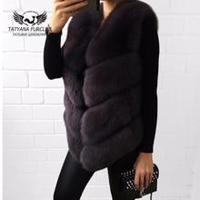 Tatyana Furclub 100% Real Natural Fur Vest,Luxury Women Winter Fashion Fur Furry vest,Fox Fur Vest Coat Female,Fur Coat Vest