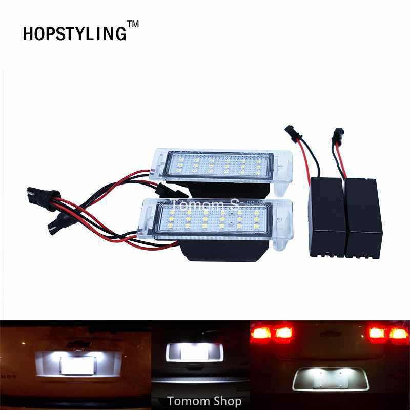 2x Canbus No Error LED number plate license light for Chevrolet Cruze Camaro Car styling auto accessory 2x led car styling canbus no error code license plate lamp for smart fortwo rear number plate light auto accessory
