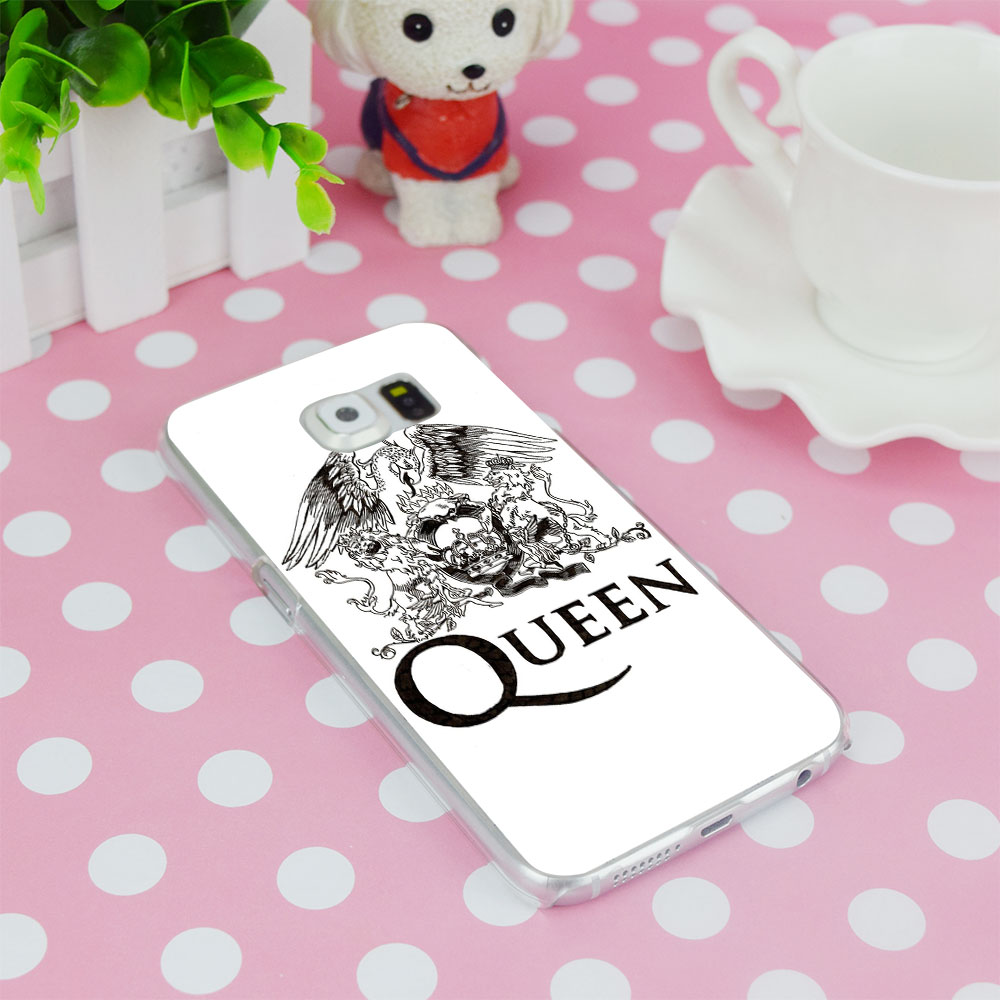 G232 Queen Rock Group Transparent Hard PC Case Cover For Samsung Galaxy S 3 4 5 6 7 8 Mini Edge Plus Note 3 4 5 8