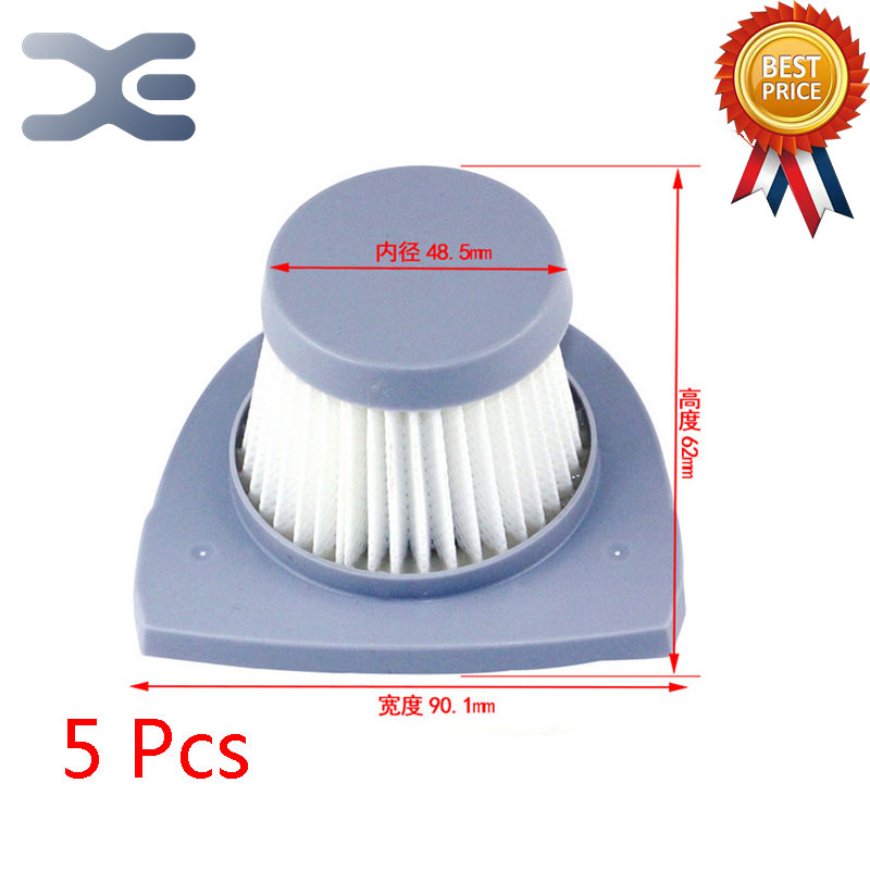 5Pcs Lot High Quality Adaptation For Midea US VH03W-09E Vacuum Cleaner Accessories Filter HEPA Filter eyki h5018 high quality leak proof bottle w filter strap gray 400ml