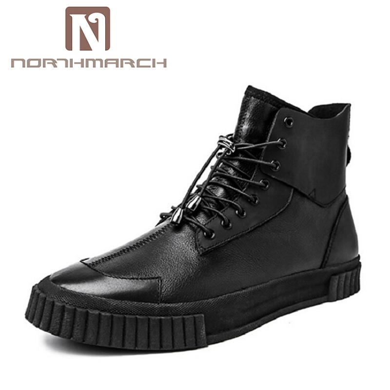 NORTHMARCH High Quality Men White Leather Shoes High Top Men'S Casual Shoes Breathable Man Lace Up Brand Shoes gram epos men casual shoes top quality men high top shoes fashion breathable hip hop shoes men red black white chaussure hommre