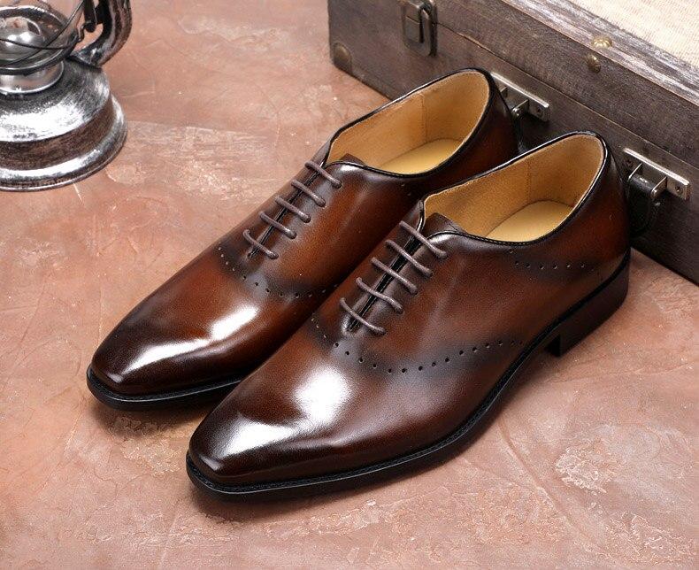 Formales Marrón Genuino Pie Los De Puntiagudo Brogue Del Oxford Zapatos Dedo Cuero Moda Vestir Negro Qyfcioufu Diseñador Zapato Hombres Italiano 0TYwOtt