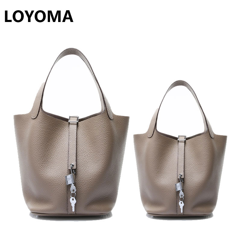 women genuine leather handbags set 2018 togo bucket bags famous brand designer drawstring tote bag high quality composite bags motorcycle aluminum