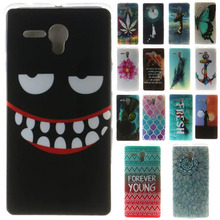 Transparent Soft TPU Phone Bags Cover for Alcatel Pop 3 Case For Alcatel One Touch Pop 3 5.5 5025D 5025  Flowers Painting Case