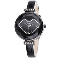 Mother-of-pearl Julius Lady Women's Watch Japan Quartz Hours Retro Clock Fashion Cute Lips Leather Girl's Birthday Gift Box 582