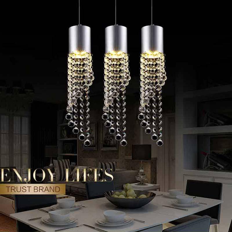 5W Led Lamp Modern Crystal Pendant Light Kitchen Dining