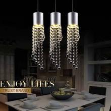 Led lamp Home Light Fixtures Modern Crystal Pendant Lights Dining Room Hanglamp LED 5W lamparas lustres de sala e27 90-240v цена