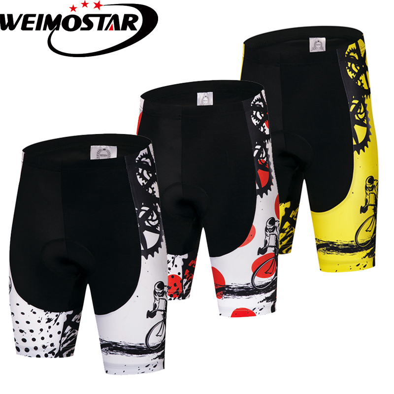 Weimostar Gel Padded Cycling Shorts Men Women Shockproof Downhill MTB Bicycle Shorts Road Bike Shorts Ropa Ciclismo Tights Black