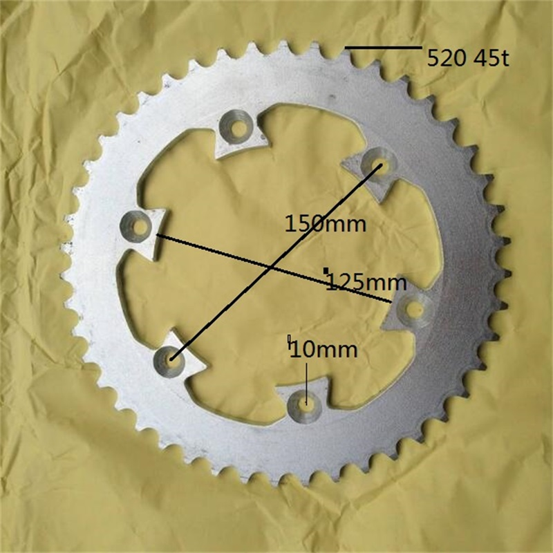 moto ycf sprockets bike motorcycle parts sprocket 45t for 520 chain mini moto kayo t4 sprocket ybr 125 pitbike cadena in Sprockets from Automobiles Motorcycles