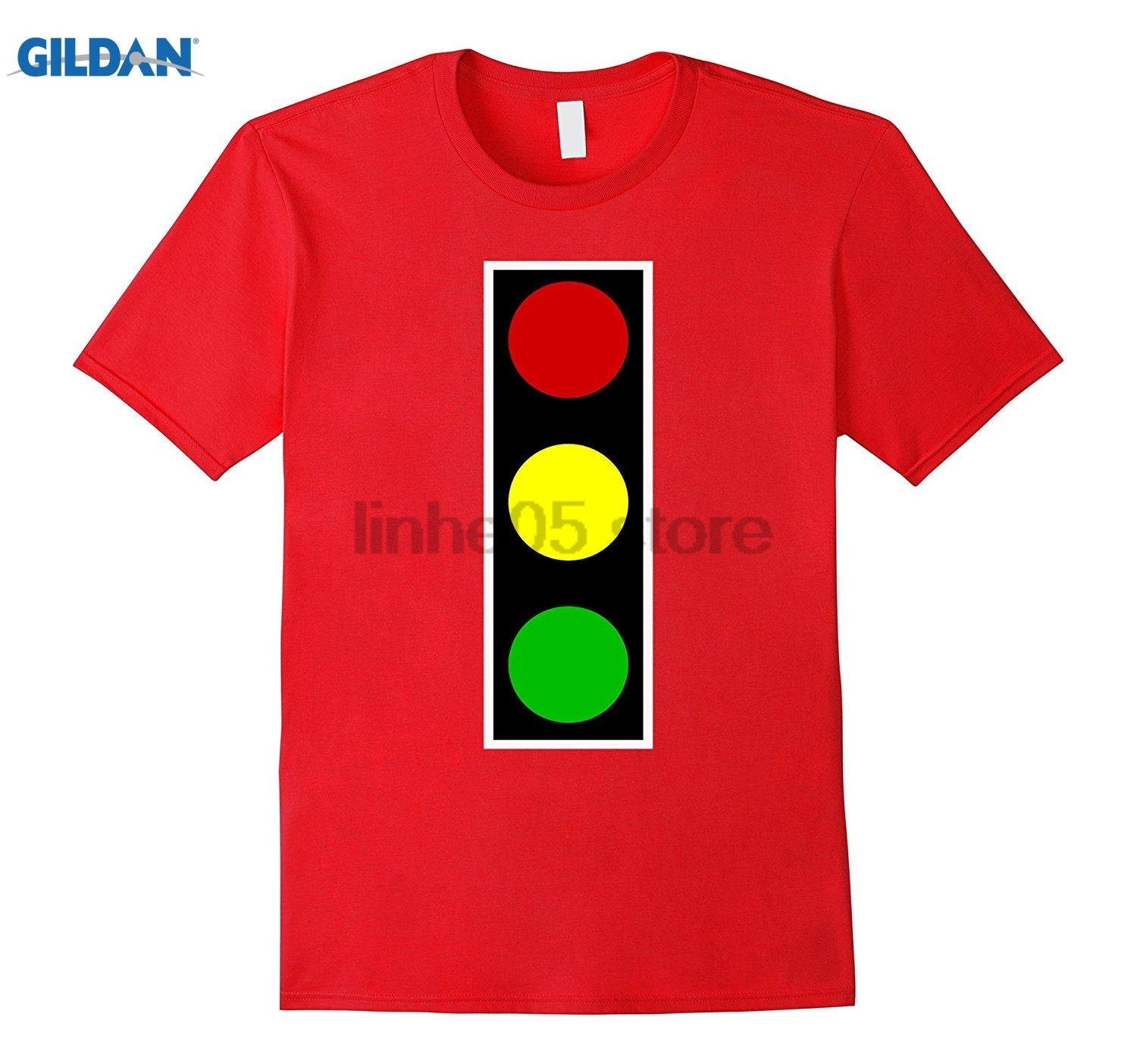 GILDAN Traffic signal light fancy dress costume tshirt glasses Womens T-shirt ...