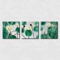 טרי ירוק לוטוס תמונות לחדר ילדים דקורטיבי תלוי על קיר לאמנות לבית מודרני פופולרי מתנה לחברים