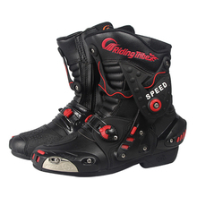 2016 men waterproof Microfiber leather motorcycle boots professional Racing Motocross Boot, high quality Motorbike A010  shoes