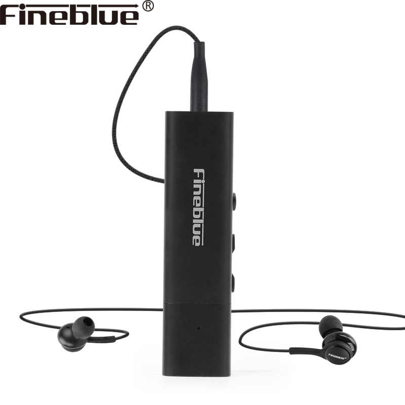 Fineblue newest W688 wired earphone and bluetooth 4.1 recevier portable wireless HIFi  Bass Collar clip handsfree sports earbuds