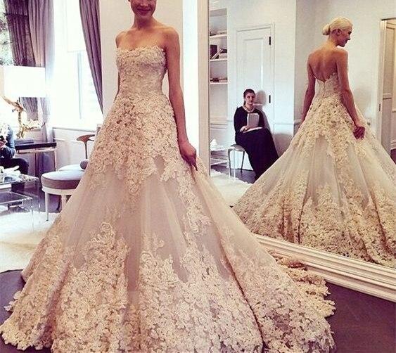 New Design Long Wedding Dresses 2019 Sweetheart Neck Sleeveless A ...