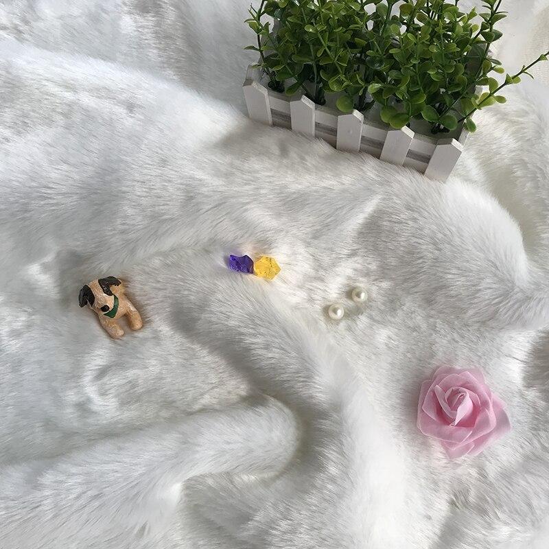 2019 Tissus Patchwork Imitatie Konijnenbont Sjaal Stof De Teller Doek Kussen Met Dikke Witte Korte Pluche Tapijt Zonden En Botten Versterken
