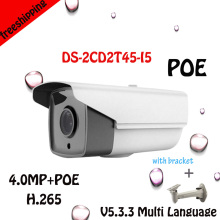 Newest POE 4mm wide angle 4MP Onvif P2P 1080P IP Camera 25fps Bullet Phone View IR Night Vision CCTV With Bracket as Gift