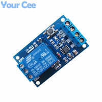 5V Single Bond Button Bistable Relay Module Modified Car Start and Stop Self-Locking Switch One Key